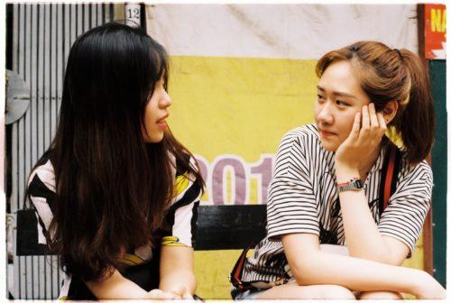 女子の会話